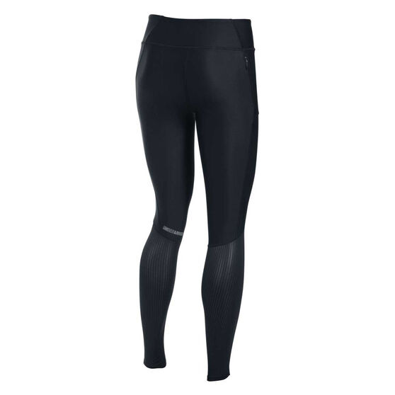Under Armour Womens Fly By Tights, Black, rebel_hi-res