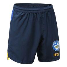 Parramatta Eels 2020 Mens Training Shorts, Navy / Blue, rebel_hi-res