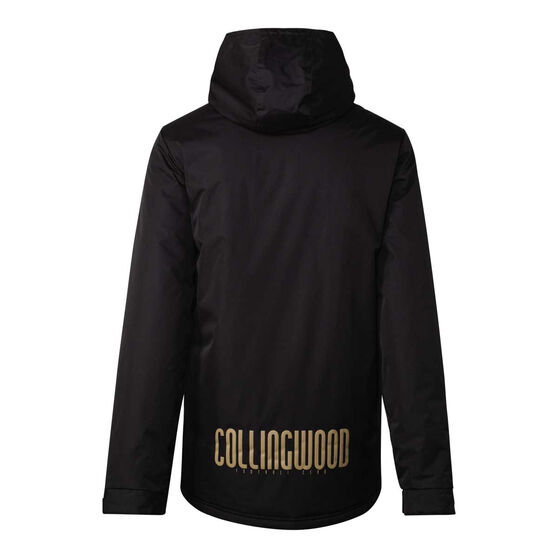 Collingwood Magpies 2021 Mens Retro Stadium Jacket, Black, rebel_hi-res