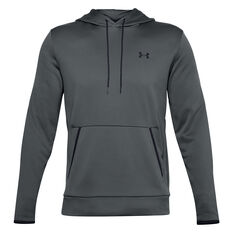 Under Armour Mens Armour Fleece Hoodie, Grey, rebel_hi-res