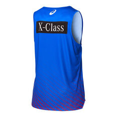 Western Bulldogs 2020 Mens Training Tank Blue S, Blue, rebel_hi-res
