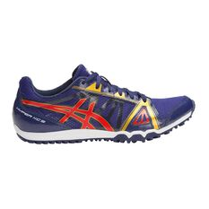 Asics Hyper XCS Mens Track and Field Shoes Blue / Red US 9.5, Blue / Red, rebel_hi-res