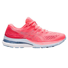 Asics GEL Kayano 28 Womens Running Shoes Coral/Blue US 6.5, Coral/Blue, rebel_hi-res