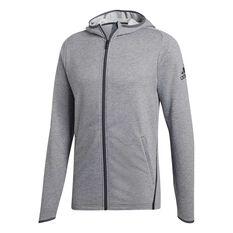 adidas Mens FreeLift Prime Hoodie Grey S, Grey, rebel_hi-res