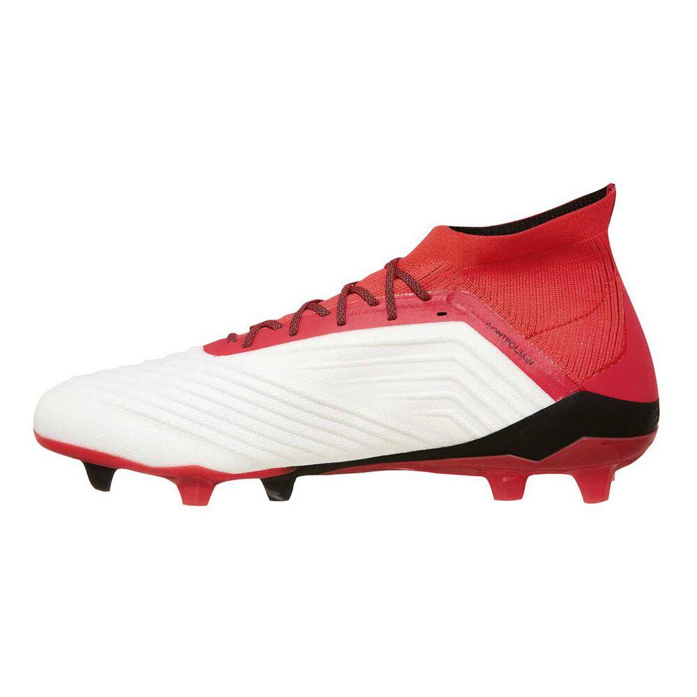 1c5761f90dfc adidas Predator 18.1 FG Mens Football Boots White   Orange US 7.5 Adult
