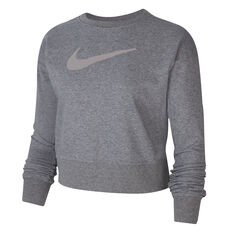 Nike Womens Dri-FIT Get Fit Training Sweatshirt Grey XS, Grey, rebel_hi-res
