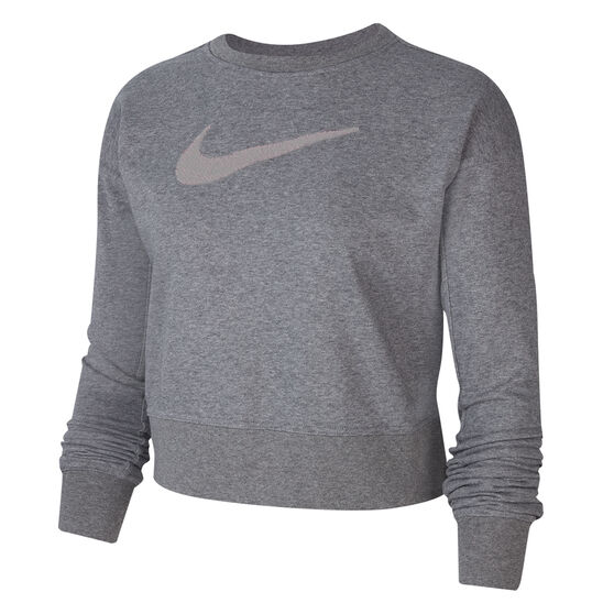 Nike Womens Dri-FIT Get Fit Training Sweatshirt, Grey, rebel_hi-res