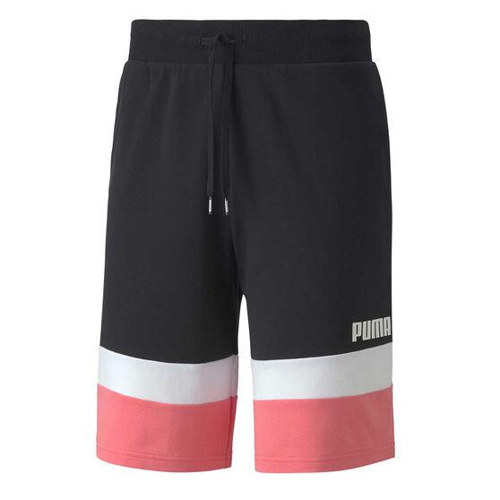Puma Mens Celebration Colour Block Shorts, Black, rebel_hi-res