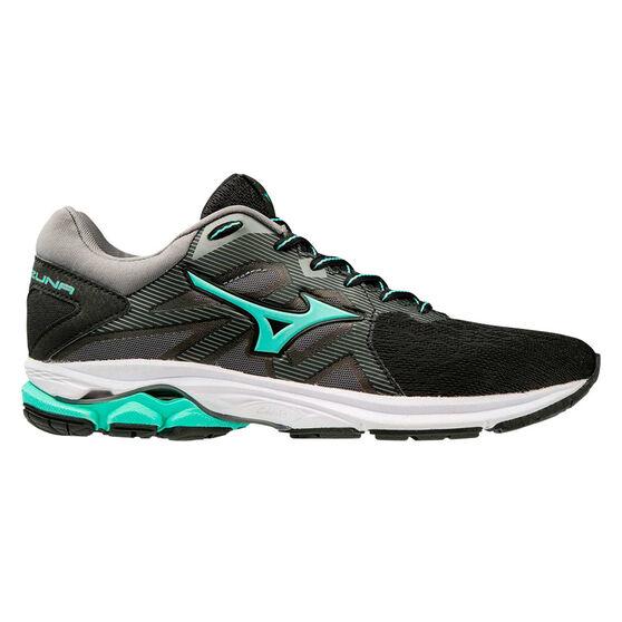 Mizuno Wave Kizuna Womens Running Shoes, Black/Grey, rebel_hi-res