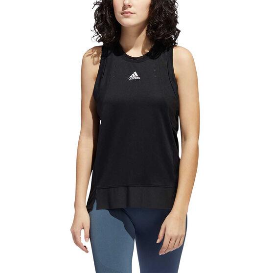 adidas Womens HEAT.RDY Training Tank, Black, rebel_hi-res