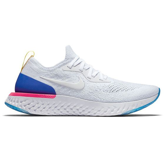 4fdfd66710a06 Nike Epic React Flyknit Mens Running Shoes White   Blue US 7