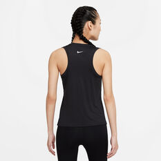 Nike Womens Dri-FIT Swoosh Run Tank Black XS, Black, rebel_hi-res