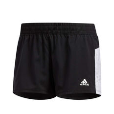 adidas Womens 3-Stripes Perforated Shorts Black S, Black, rebel_hi-res