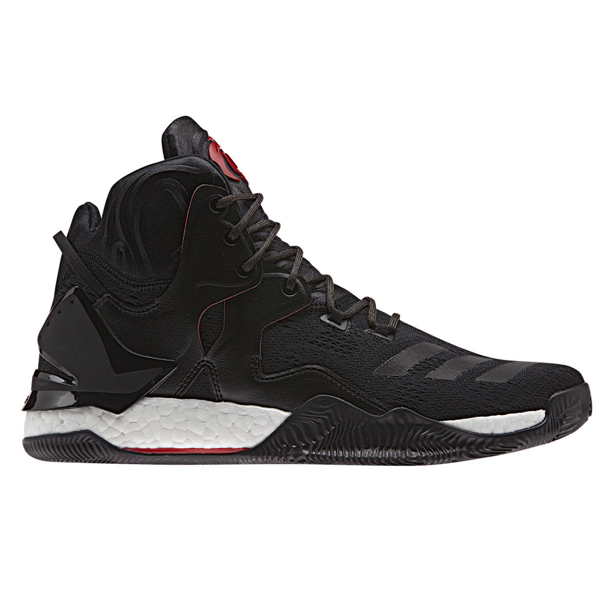 02bf0430b4b ... best price adidas d rose 7 primeknit mens basketball shoes black red us  9.5 black e5484