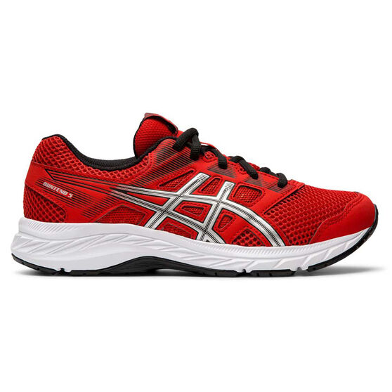 Asics Gel Contend 5 Kids Running Shoes, Red / White, rebel_hi-res