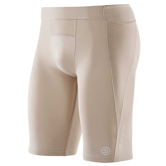 SKINS Bio A400 Mens Compression Half Tights, Natural, rebel_hi-res