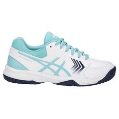 Asics Gel Dedicate 5 Hardcourt Womens Tennis Shoes White / Blue US 6, White / Blue, rebel_hi-res