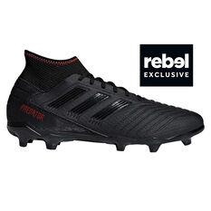 adidas Predator 19.3 Mens Football Boots Black / Red US 7, Black / Red, rebel_hi-res