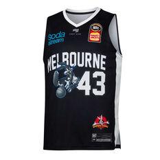 Melbourne United 2019/20 Mens Looney Tunes Chris Goulding Jersey Black S, Black, rebel_hi-res