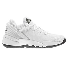 adidas D.O.N. Issue #2 Mens Basketball Shoes White/Black US 7, White/Black, rebel_hi-res