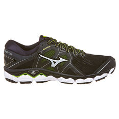 Mizuno Wave Sky 2 2E Mens Running Shoes Black US 8, Black, rebel_hi-res