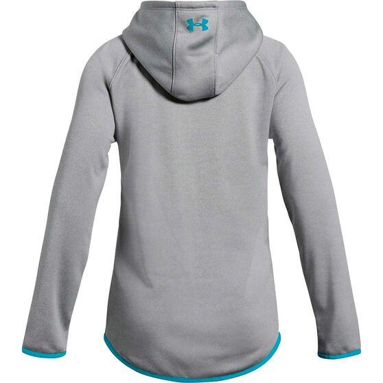 Under Armour Girls Armour Fleece Hoodie Grey XS, Grey, rebel_hi-res