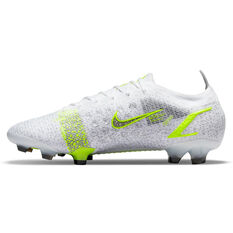 Nike Mercurial Vapor 14 Elite Football Boots Silver/Volt US Mens 5 / Womens 6.5, Silver/Volt, rebel_hi-res