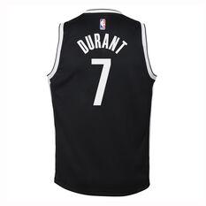 Nike Brooklyn Nets Kevin Durant 2019/20 Kids Icon Edition Swingman Jersey, Black / White, rebel_hi-res