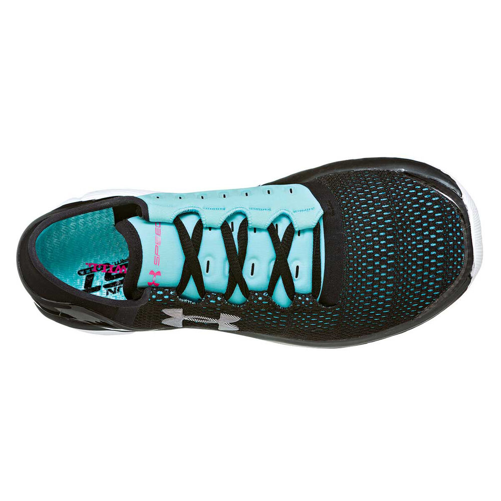 Under Armour Speedform Apollo 2 Womens Running Shoes Black   Blue US ... bfe1d5b35