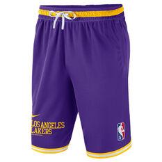 Nike Los Angeles Lakers Mens Courtside NBA DNA Shorts Purple S, Purple, rebel_hi-res