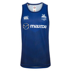 North Melbourne Kangaroos 2020 Mens Training Singlet Blue S, Blue, rebel_hi-res