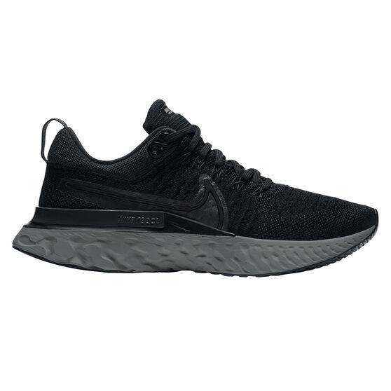 Nike React Infinity Run Flyknit 2 Womens Running Shoes, Black, rebel_hi-res