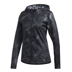 adidas Womens Own The Run Graphic Jacket Grey XS, Grey, rebel_hi-res