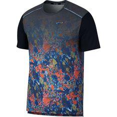 b6dc187874571 Nike Mens Breathe Rise 365 Running Tee Dark Indigo S, Dark Indigo, rebel_hi-