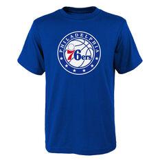 Philadelphia 76ers Kids Primary Logo Tee Blue S, Blue, rebel_hi-res