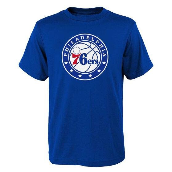 Philadelphia 76ers Kids Primary Logo Tee, Blue, rebel_hi-res
