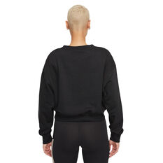 Nike Womens Sportswear Heritage Crew Sweatshirt Black XS, Black, rebel_hi-res