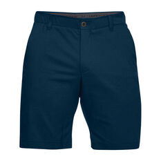 Under Armour Mens Showdown Golf Shorts Navy 30in Adult, Navy, rebel_hi-res