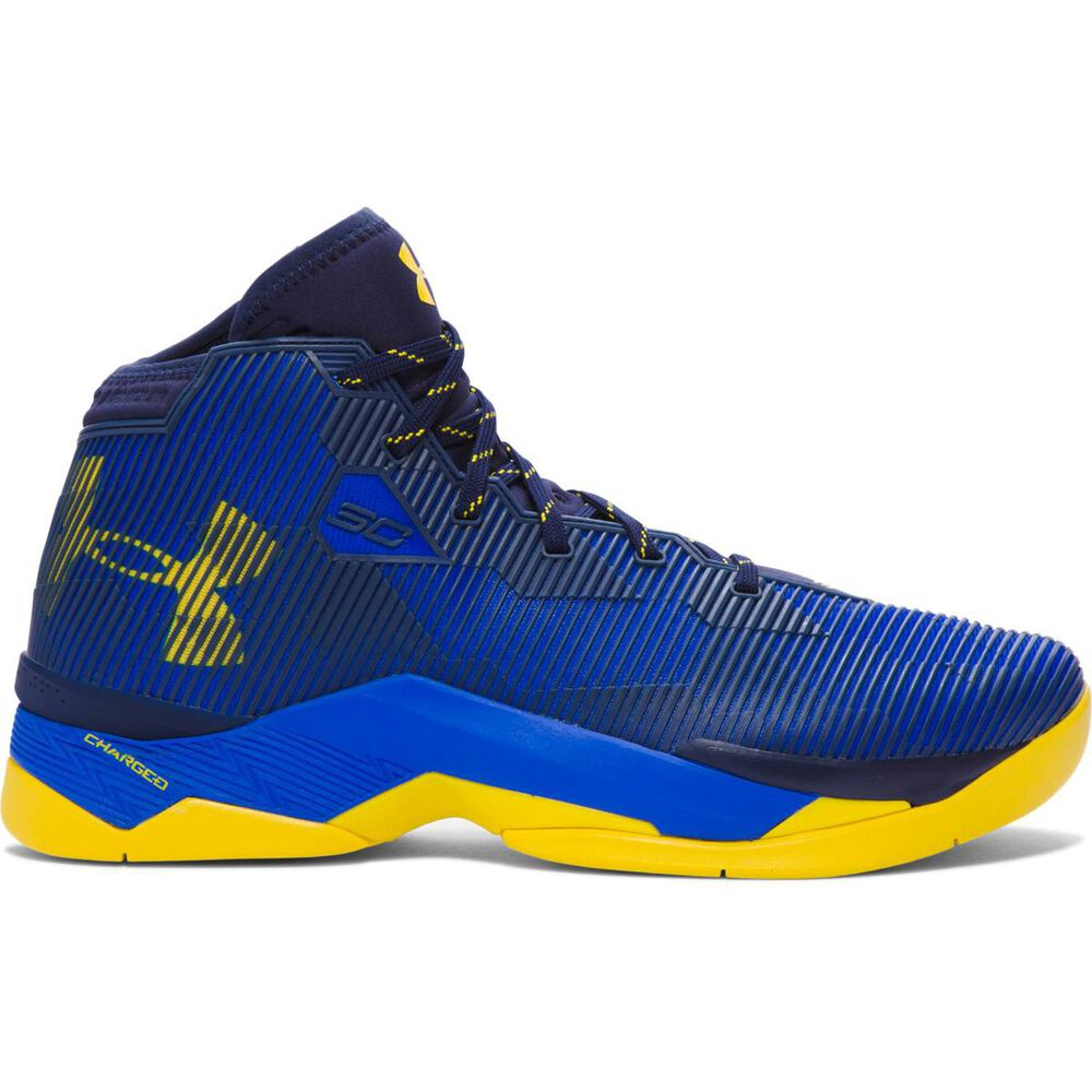 2e0bb661d5c8 Under Armour Curry 2.5 Mens Basketball shoe Blue   Yellow US 9.5 ...