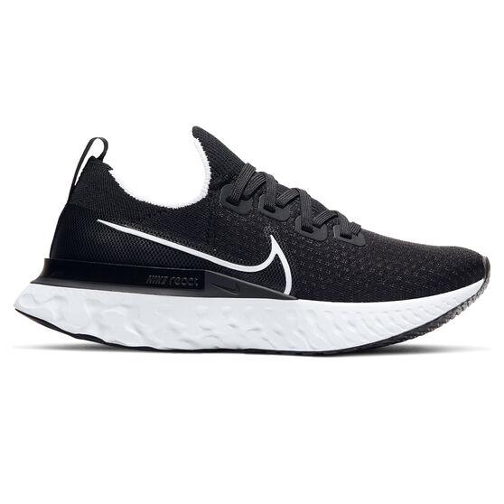 Nike React Infinity Run Flyknit Womens Running Shoes, Black / White, rebel_hi-res