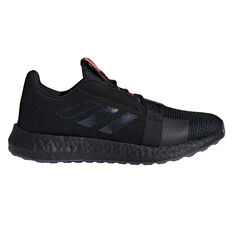 adidas Senseboost Go Womens Running Shoes Black / Purple US 6, Black / Purple, rebel_hi-res
