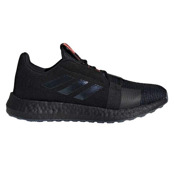 adidas Senseboost Go Womens Running Shoes, Black / Purple, rebel_hi-res