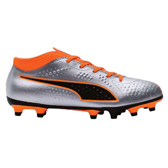 Puma One 4 Junior Football Boots, Black / Orange, rebel_hi-res