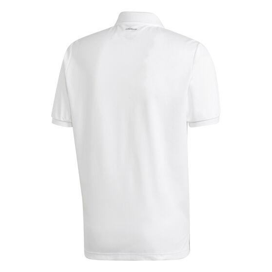 adidas Mens Polo, White, rebel_hi-res