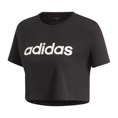 adidas Womens Designed 2 Move Cropped Tee, Black, rebel_hi-res