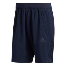 adidas Mens AEROREADY 3 Stripe Shorts Blue S, Blue, rebel_hi-res