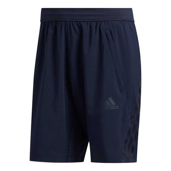 adidas Mens AEROREADY 3 Stripe Shorts, Blue, rebel_hi-res