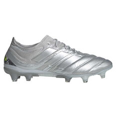adidas Copa 20.1 Football Boots Silver / Yellow US Mens 13 / Womens 14, Silver / Yellow, rebel_hi-res
