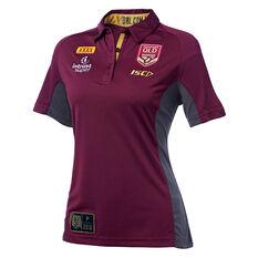 QLD Maroons 2018 State of Origin Womens Polo Shirt, , rebel_hi-res