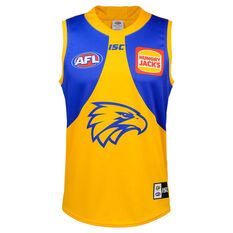 West Coast Eagles 2020 Mens Away Guernsey Yellow S, Yellow, rebel_hi-res